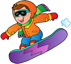 A snowboarder in a jump Game