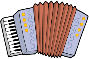 Accordion, wind box-shaped musical instrument Game