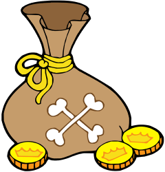 Bag full of gold coins Game