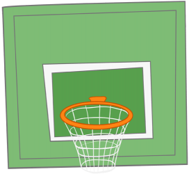 Basketball backboard and basket Game