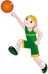 Basketball player in offensive action, attack Game