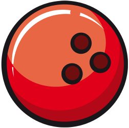 Bowling ball with three holes Game