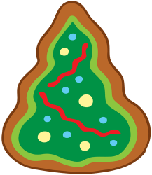 Christmas tree, a Christmas cookie Game