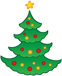 Christmas tree, a decorated fir Game