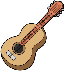 Classical guitar, a string instrument Game