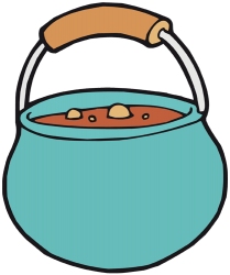 Cooking pot full of food Game