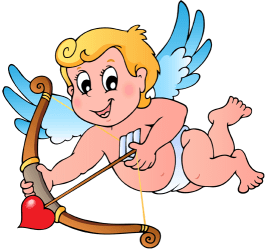 Cupid with a bow and an arrow Game
