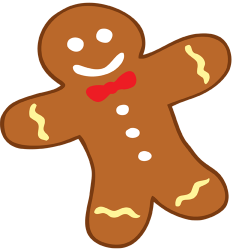 Decorated Gingerbread man cookie Game