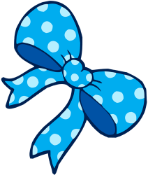 Decorative blue bow Game