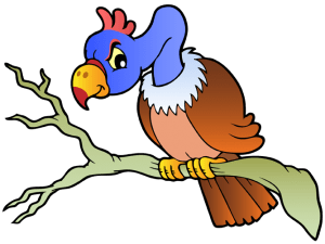 Desert vulture over a tree branch Game