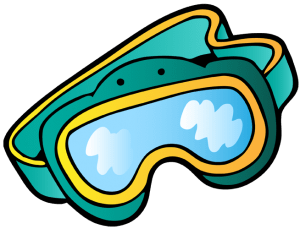 Diving mask to see well underwater Game