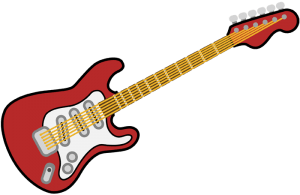 Electric guitar, instrument for modern music Game