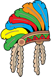 Feathered war bonnet. Feathered headdress Game