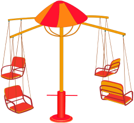 Flying chairs, swivel swing for four Game