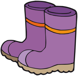 Garden boots. Rubber boots to work on the garden Game