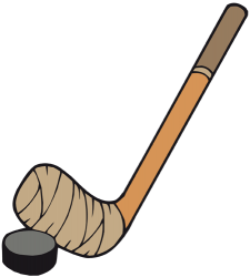 Hockey disk and hockey stick Game