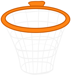 Hoop and net, essential for basketball Game