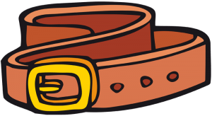 Leather belt with buckle Game
