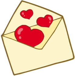 Love letter. Envelope with hearts Game