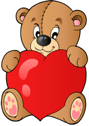 Lovely Teddy bear with a big heart Game