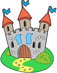 Medieval castle with three towers Game