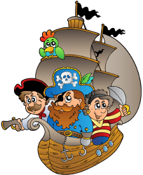 Pirate ship. Pirates on board the ship Game