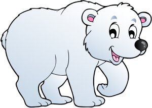 Polar bear, the largest bear lives on the ice Game