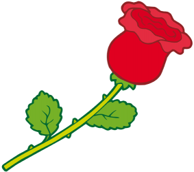 Red rose, the flower of love Game