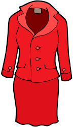 Red skirt suit for woman Game
