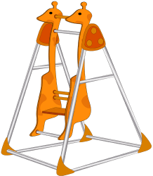 Swing with the shape of a giraffe Game