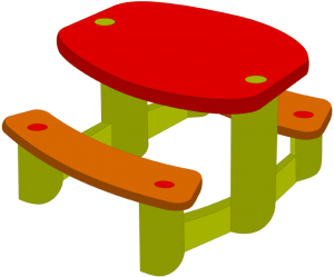 Table and benches for children Game