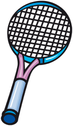 Tennis racquet, essential to play tennis Game