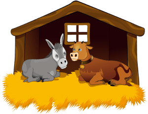 The animals in the stable: the ox and the mule Game