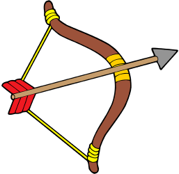 The bow and the arrow, american indian's weapon Game