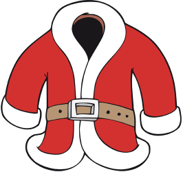 The red and white Santa Claus coat Game