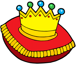 The royal crown on a cushion Game
