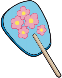 Traditional Japanese hand fan Game