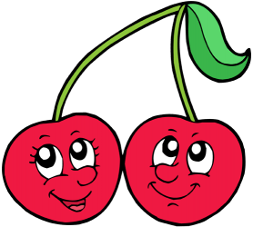 Two cherries, the fruit of the cherry tree Game