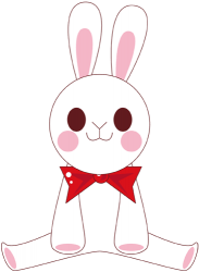 White rabbit from a fairy tale Game