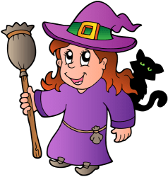Witch with the black cat and the magic broom Game