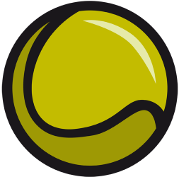 Yellow tennis ball Game