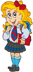 Young girl with the school uniform Game