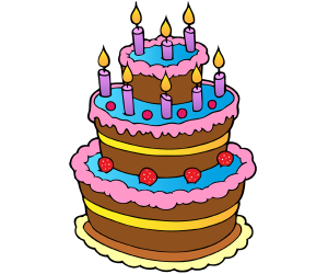 A birthday cake with eight candles Game