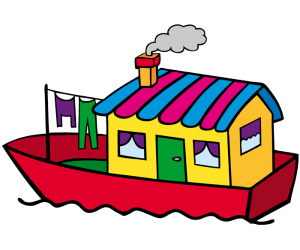 A boat used as a house, a house boat Game