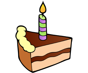 A candle on a piece of birthday cake Game