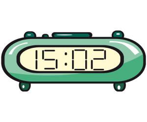 A clock radio, digital alarm clock with radio Game