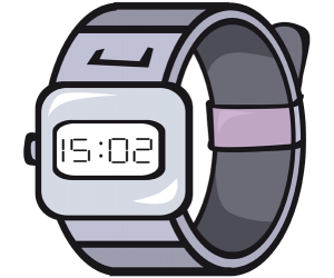 A digital wrist watch, a sport watch Game