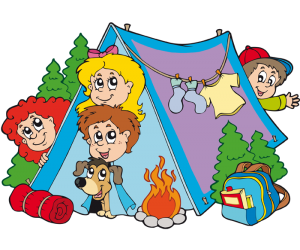 A family living a camping adventure Game