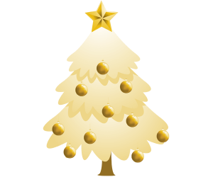 A fir tree with decorations, a Christmas tree Game