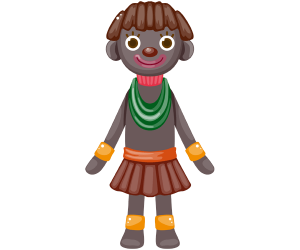 A girl from the african tribe Game